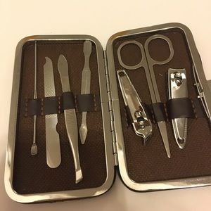 Nail kit with travel case